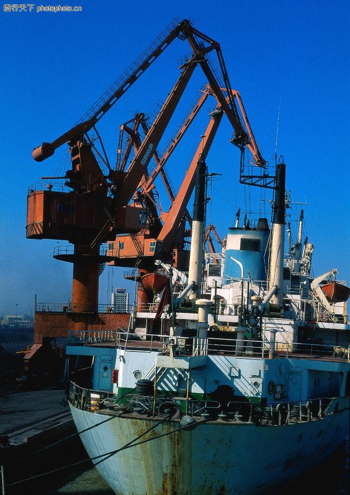 横版画册封面设计_重工业机械0062-综合图-综合图库-船舶 吊车 装卸