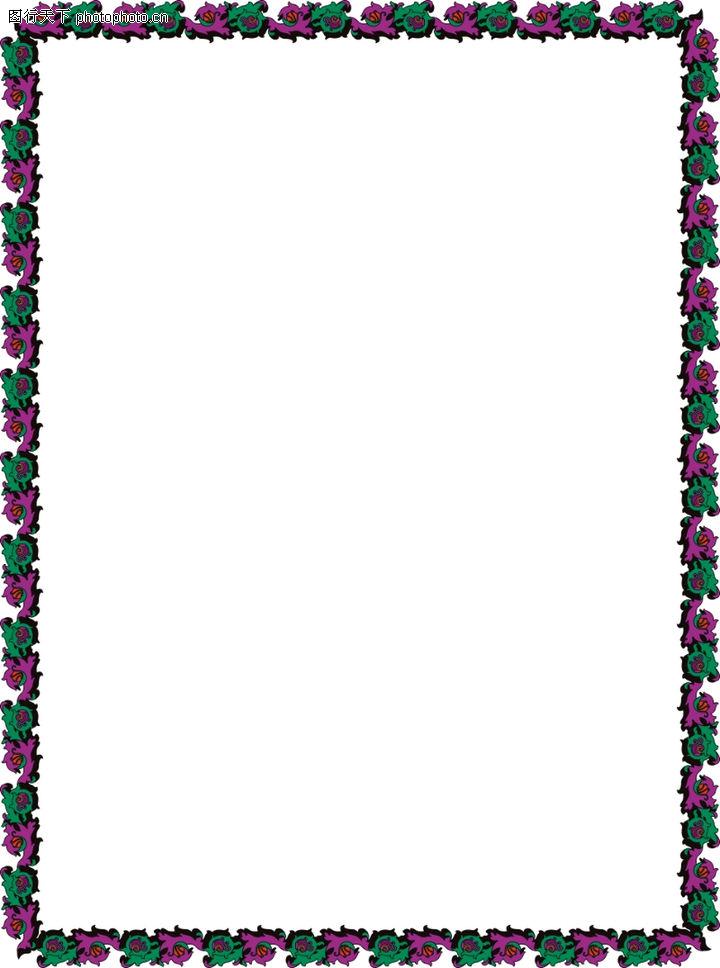 边框天地0091-边框天地图-底纹背景图库-边框 小花