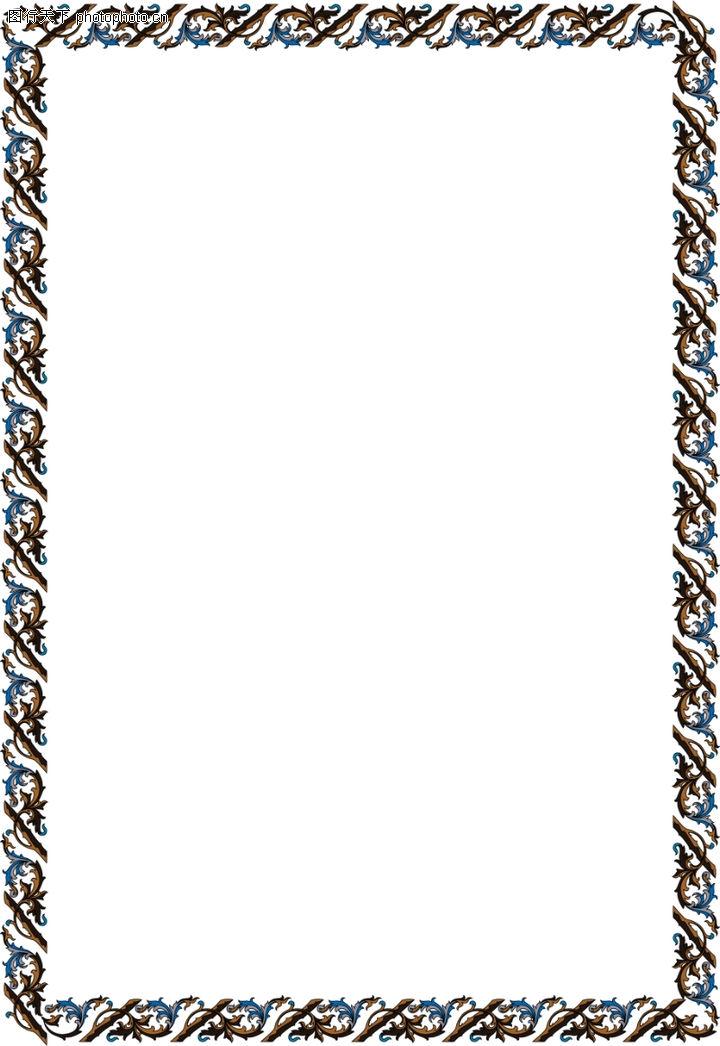边框天地0094-边框天地图-底纹背景图库-相框 框边 装饰