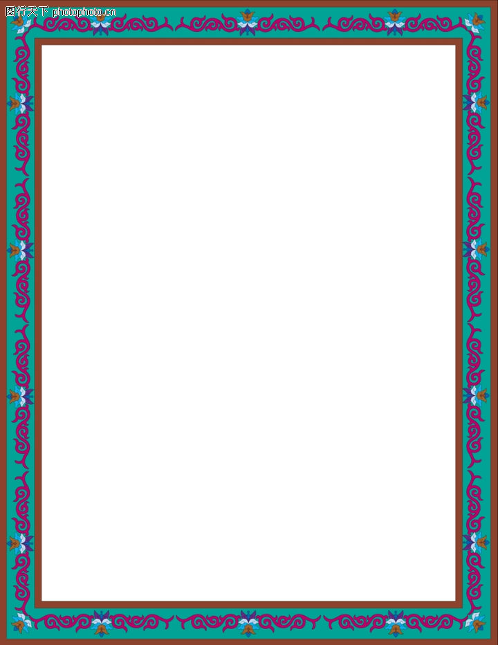 装饰边框,底纹背景,长方形 细腻 纹饰,装饰边框0001