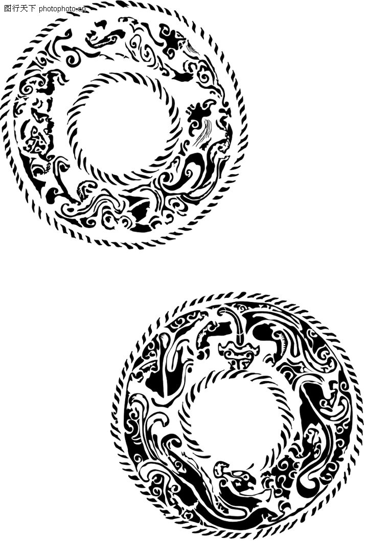 圆形玉佩设计图案