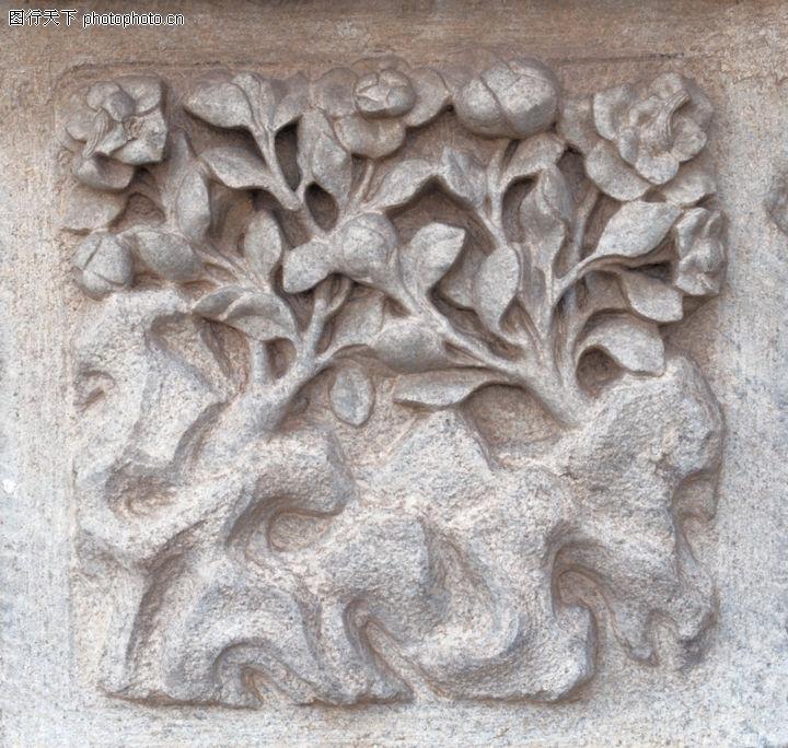 花纹墙饰,纹饰雕塑,石刻 图案 花纹,花纹墙饰0065