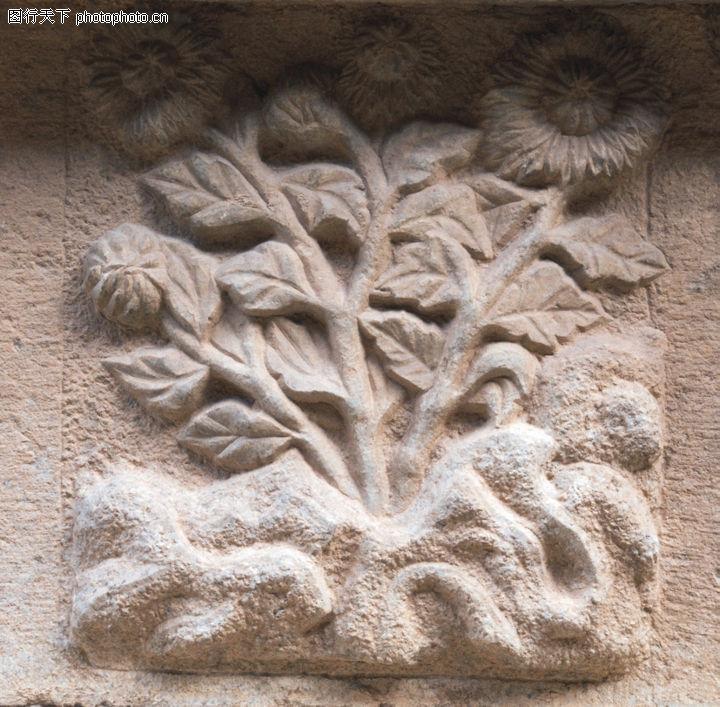 花纹墙饰,纹饰雕塑,图案 花朵 漂亮,花纹墙饰0081