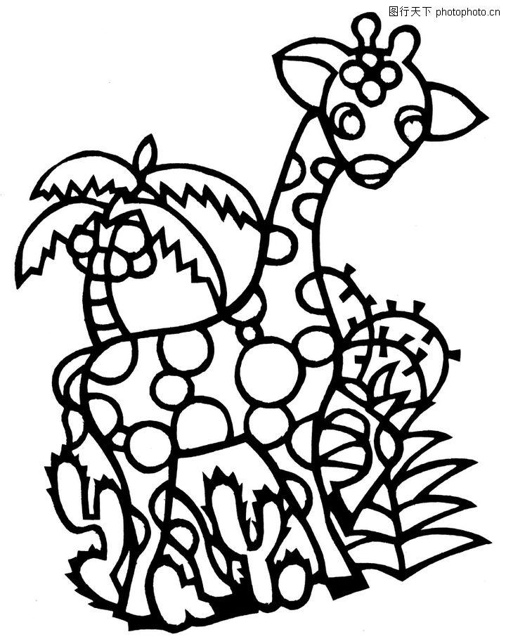 斑纹动物矢量图
