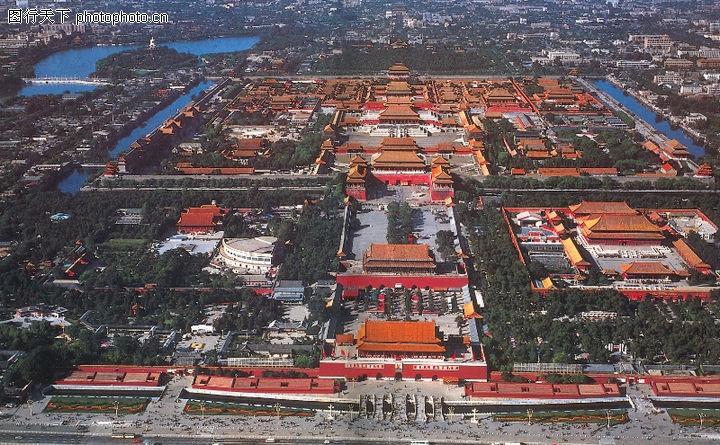 雄伟紫禁城,首都风光,天安门 紫禁城 名胜,紫禁城全景高清图片