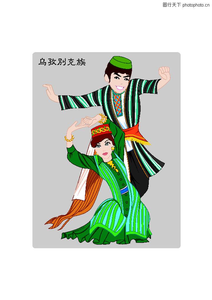 中国五十六个民族 中国传统 少数民族 特色服饰