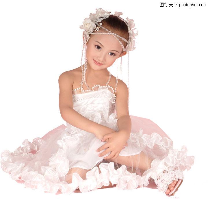 儿童,儿童,坐地上 小公主