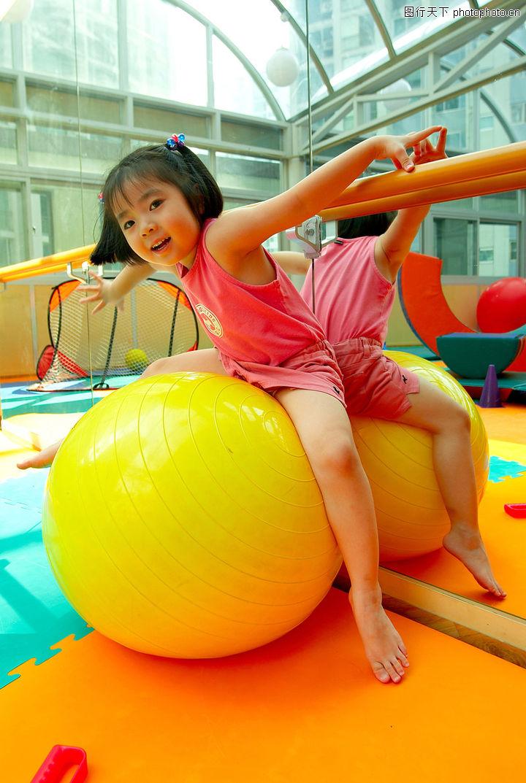 儿童启蒙,儿童,女孩 气球