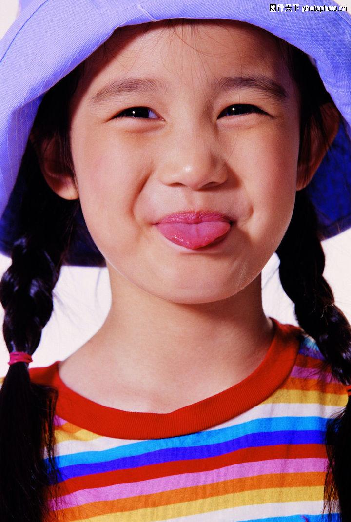 儿童表情,儿童,舌头 鬼脸
