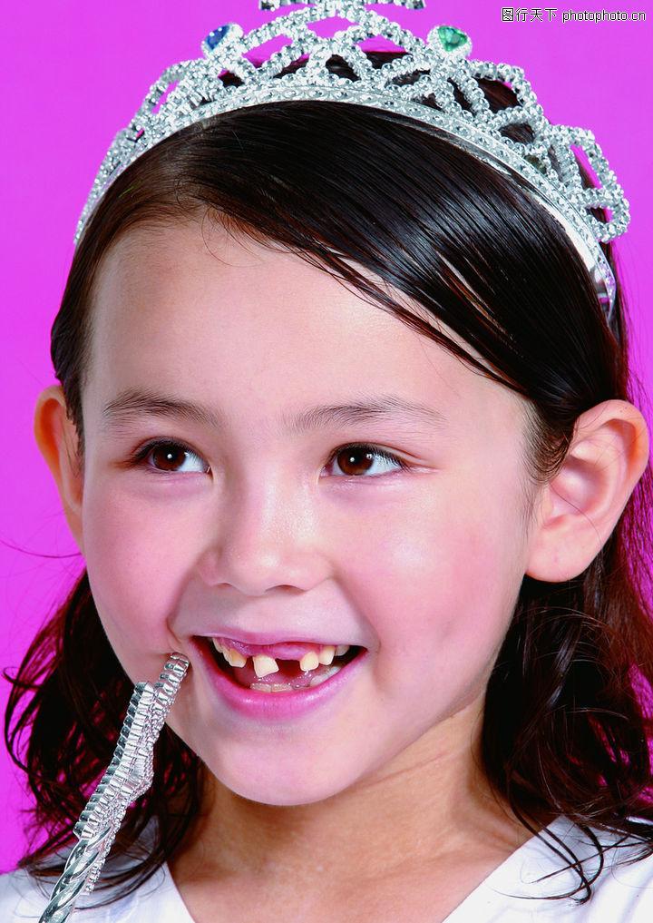 儿童,女孩 牙齿