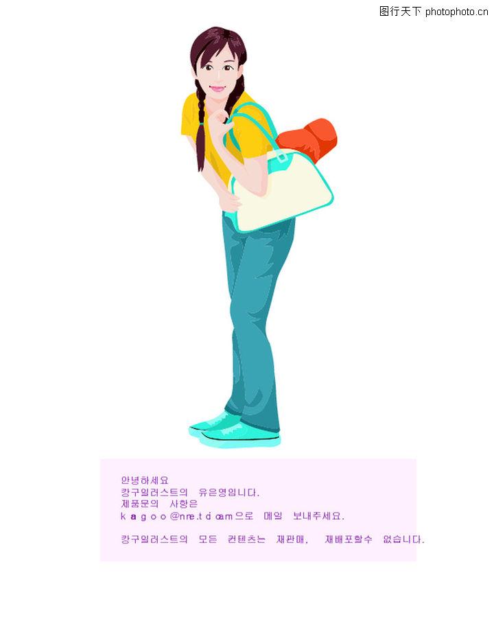 卡通棒球帽女孩