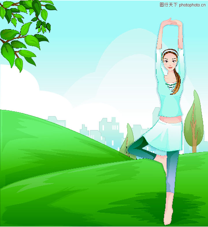 头像卡通,优美+舞蹈家人物酷帅女生图片