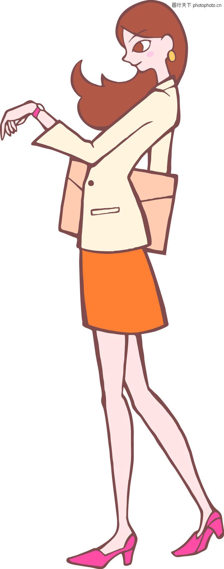 时尚女性 卡通人物