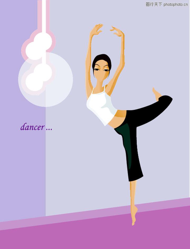 卡通人物,舞蹈 芭蕾