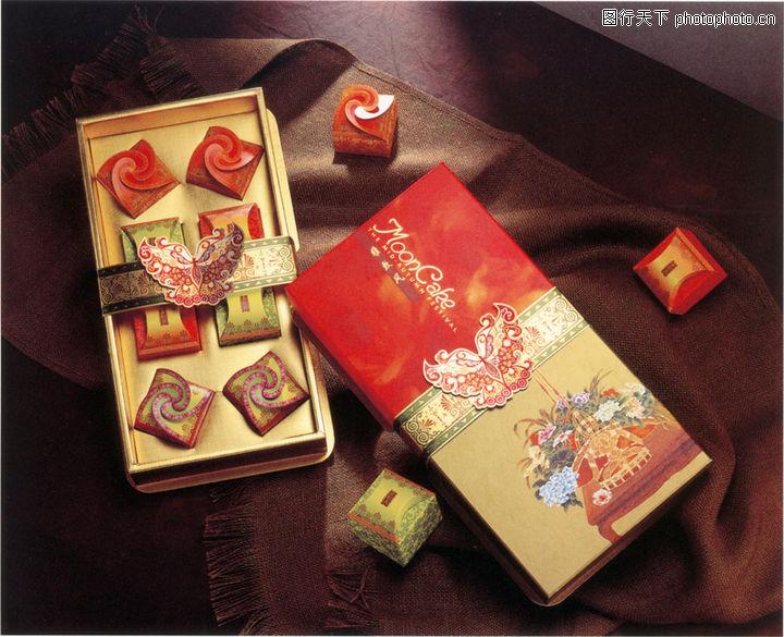 0016 包装设计图 广告图库 mooncake 蝴蝶结 内包装 外包装 -包装设