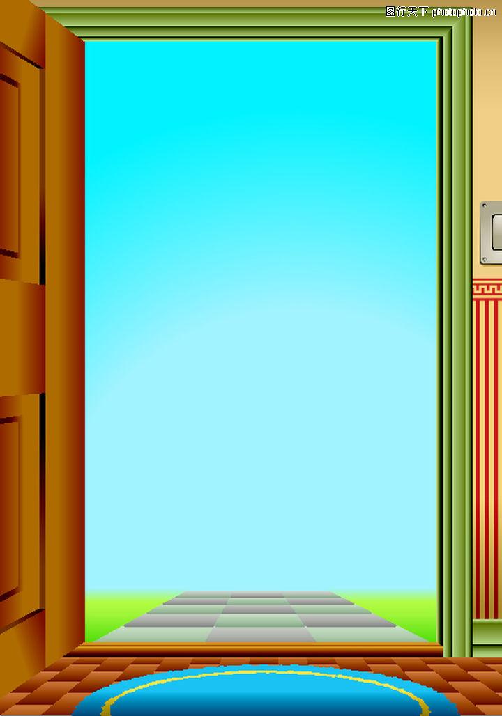 矢量背景素材,底纹,打开 路 房门 木门 装潢,矢量背景素材0133