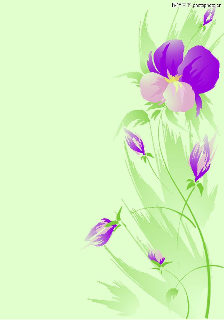 矢量背景素材,底纹,淡雅花朵,矢量背景素材0195