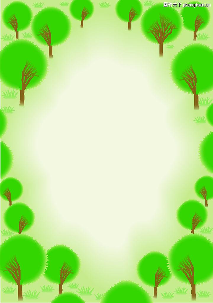 矢量背景素材0213-矢量背景素材图-底纹图库-小树 经树