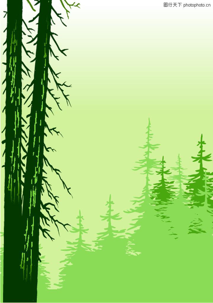 矢量背景素材,底纹,树林,矢量背景素材0234