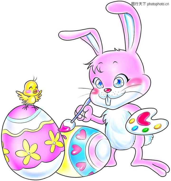 可爱小兔子画画图片