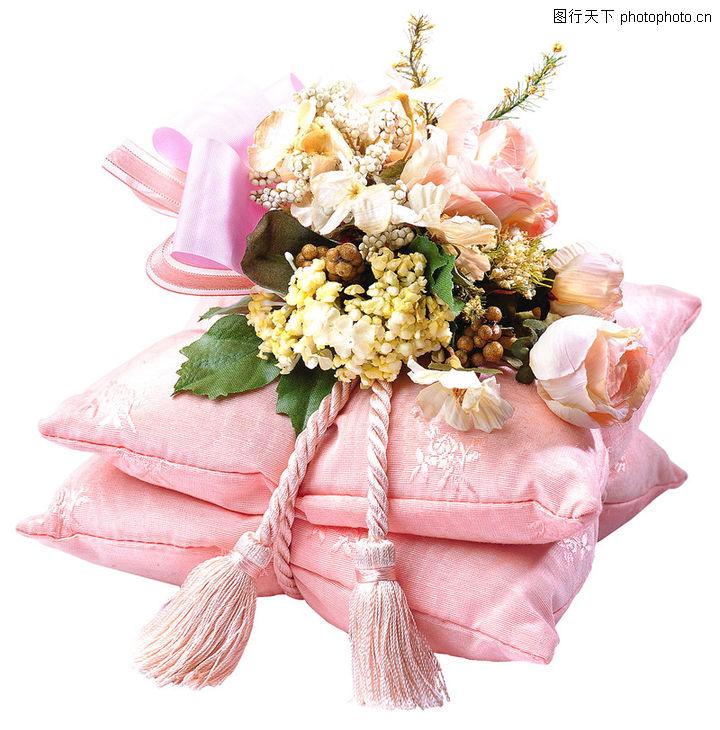 礼物,静物,抱枕 花朵 粉色,礼物0022