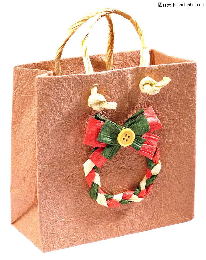 礼物,静物,纸袋 礼品袋 装饰结,礼物0055