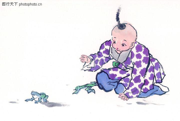 中国国画,青蛙