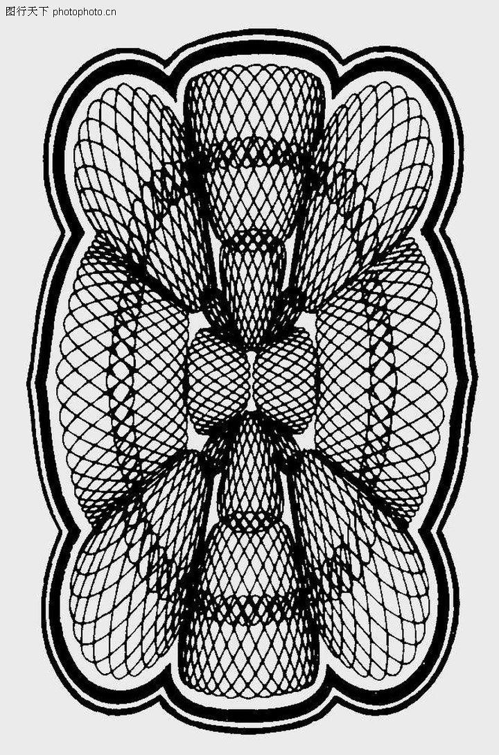 古代图案花纹 中国民间艺术 几何 图形 对称