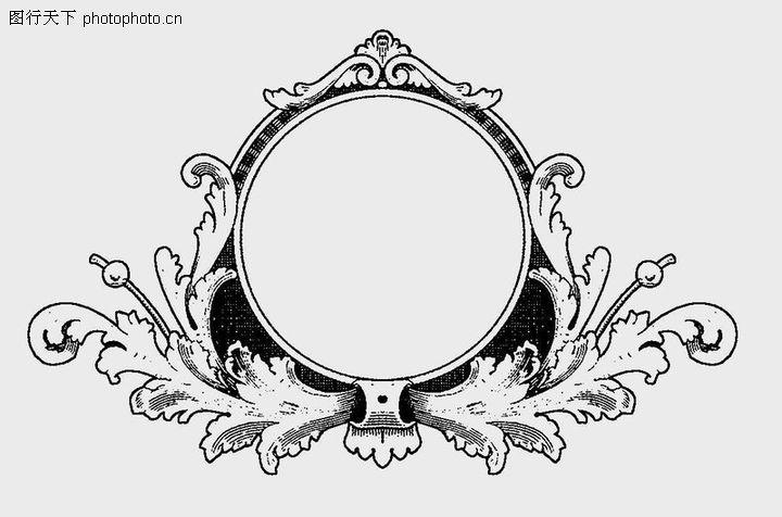 古代镜子简笔画