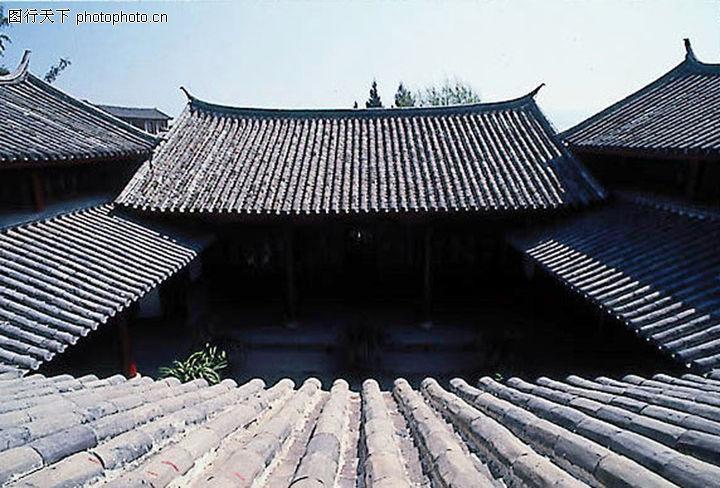 古代建筑,中国民间艺术,四合院 屋顶 瓦片 庭院 角度,古代建筑0003