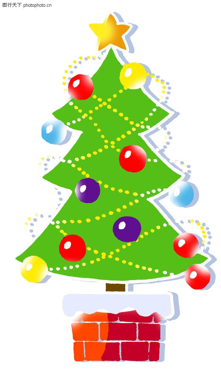 彩绘,中国民间艺术,圣诞树 装饰 烟囱,彩绘0019