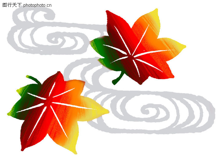 彩绘,中国民间艺术,树叶