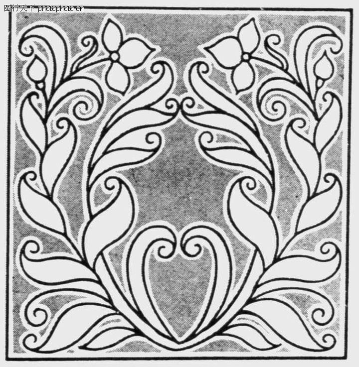 植物图案花纹,中国民间艺术,叶子 植物图案 花朵,植物图案花纹0026