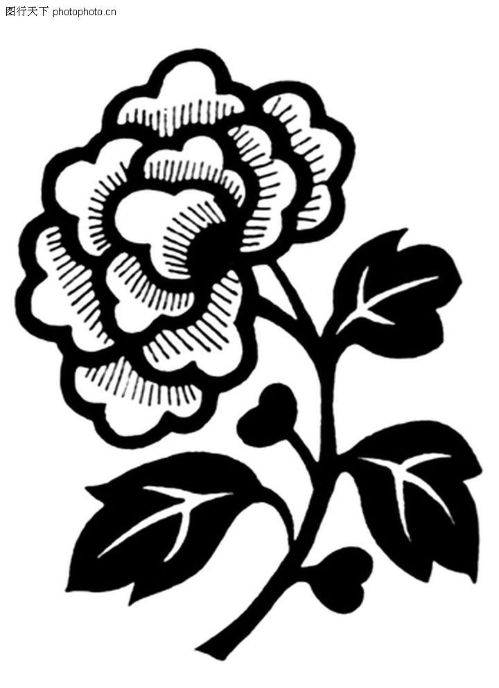 菊花图案黑白