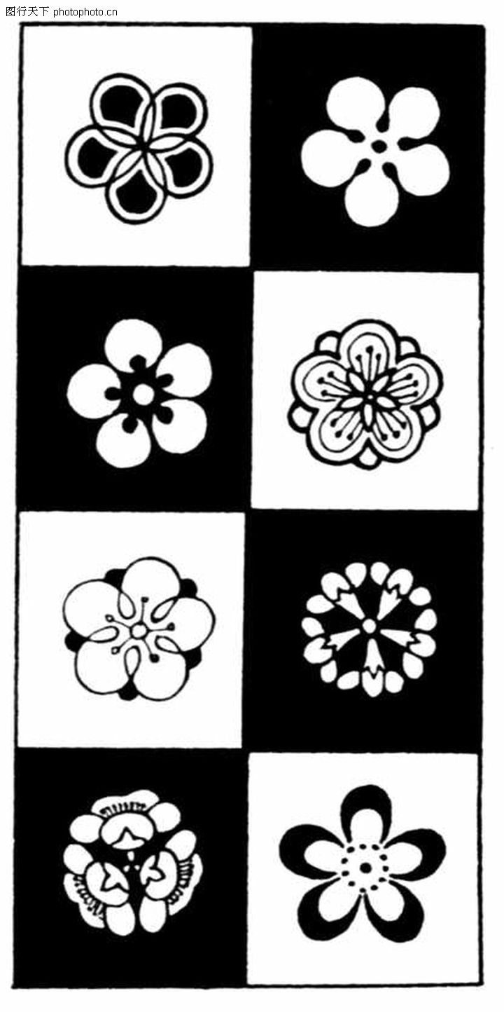 背景简笔画花朵花纹图片 花纹 花边 线条  (399x800); 现代图案花纹