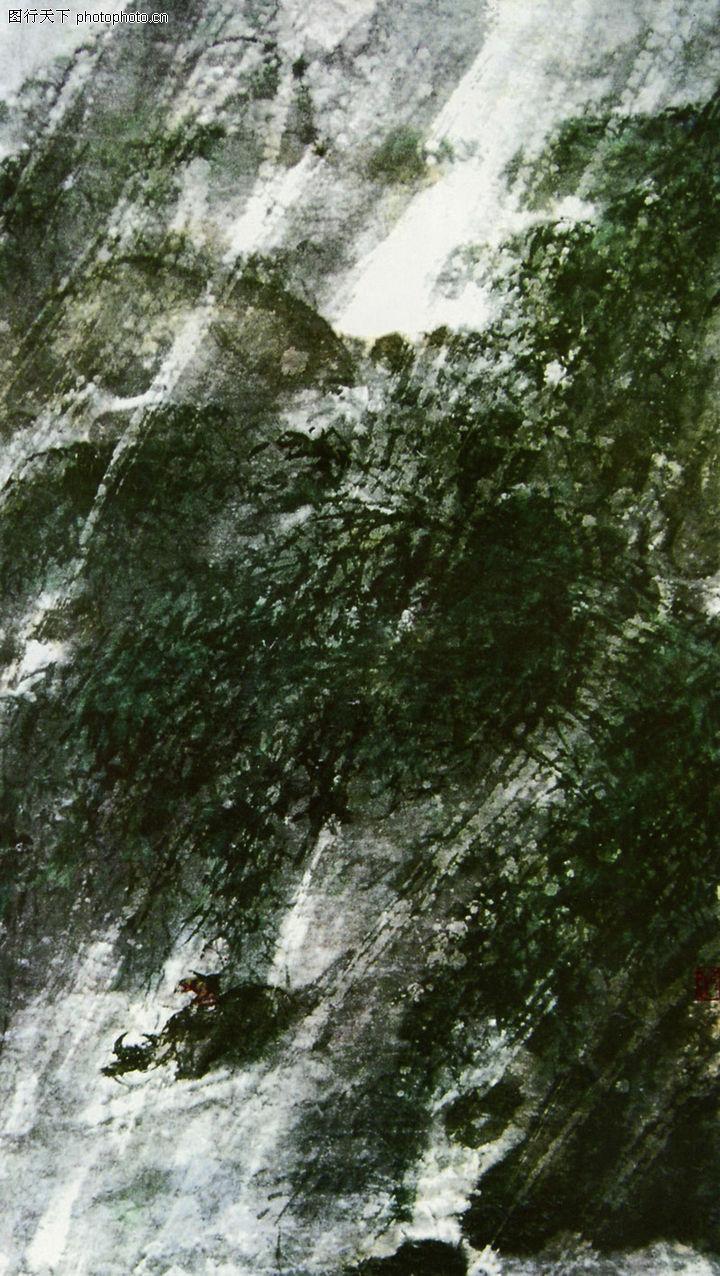 傅抱石,中国近代大师名画,风雨归牧