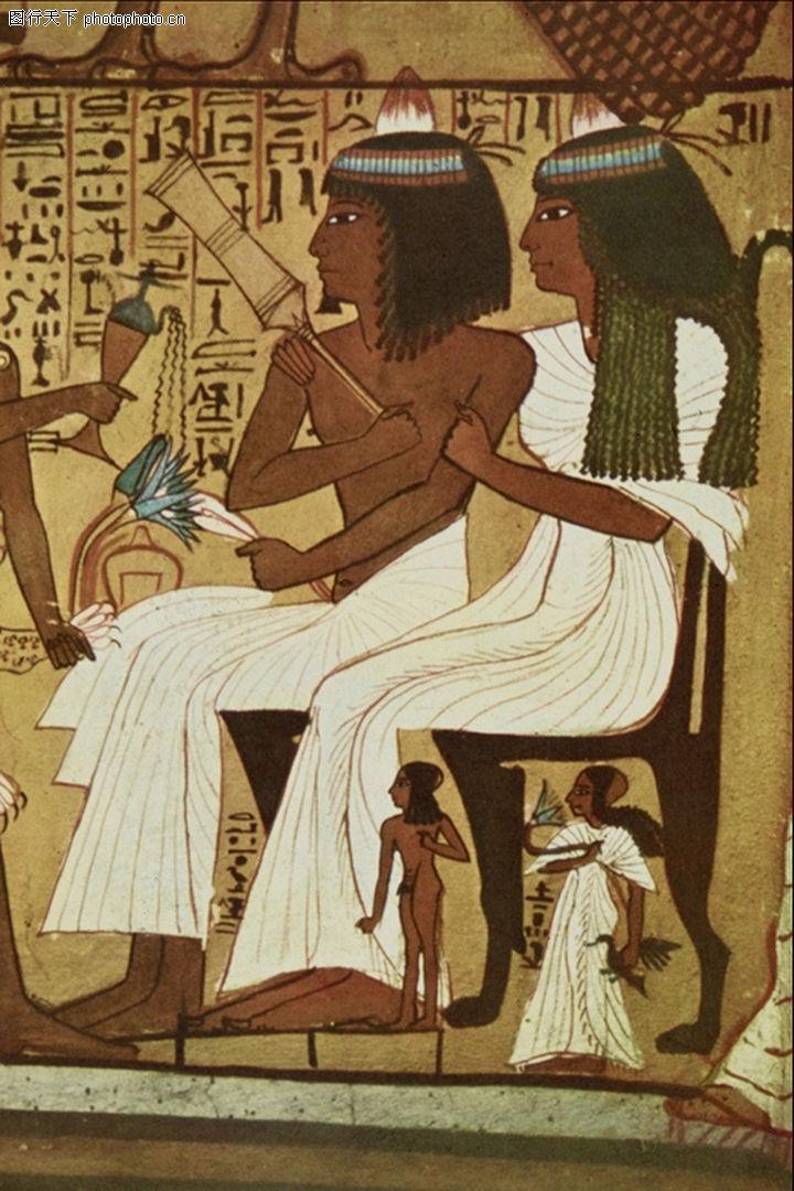 埃及壁画 国外传世名画 壁画 国王 古典