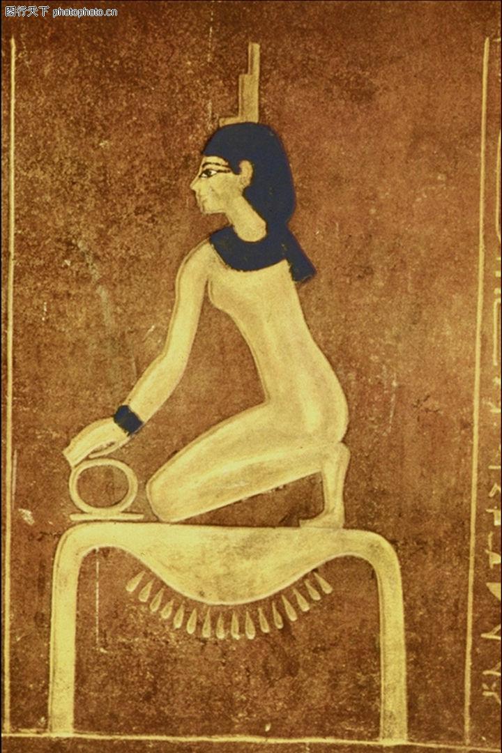埃及壁画,国外传世名画,埃及壁画0052