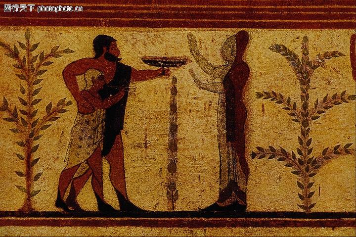 埃及壁画,国外传世名画,埃及壁画0082