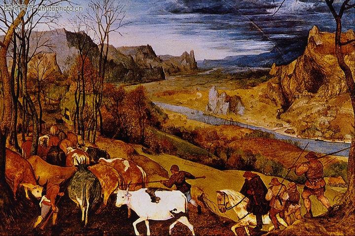 风景油画,国外传世名画,景色 动物 牲口,风景油画0036