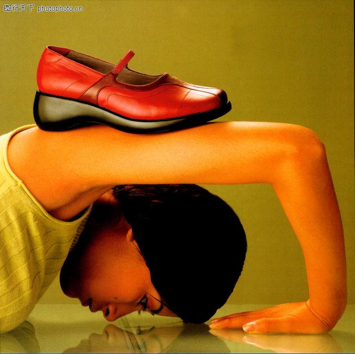 商业人相及服装,中国广告摄影年鉴,鞋子 头部 女人,商业人相及服装0014