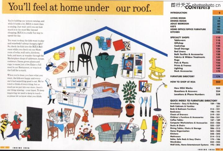 版式设计之目录集锦 书籍装帧设计 纺织用品 家具 沙发
