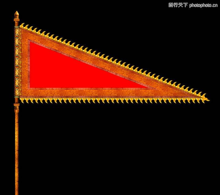 中国古代战旗带赢图片_