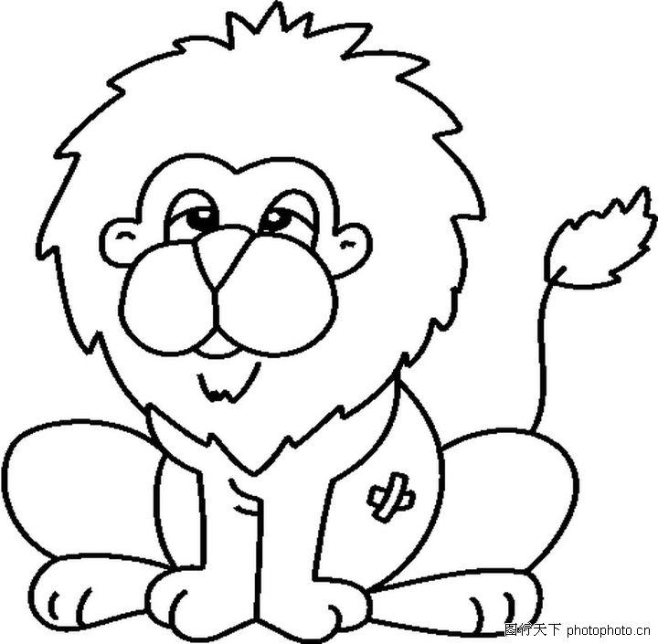 狮子简笔画图片大全 狮子简笔画 简笔画图文教程 百人简笔画 儿童简笔画图片