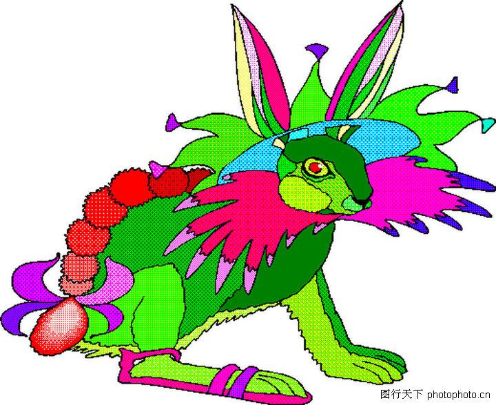 动物拟人卡通画_小动物卡通画