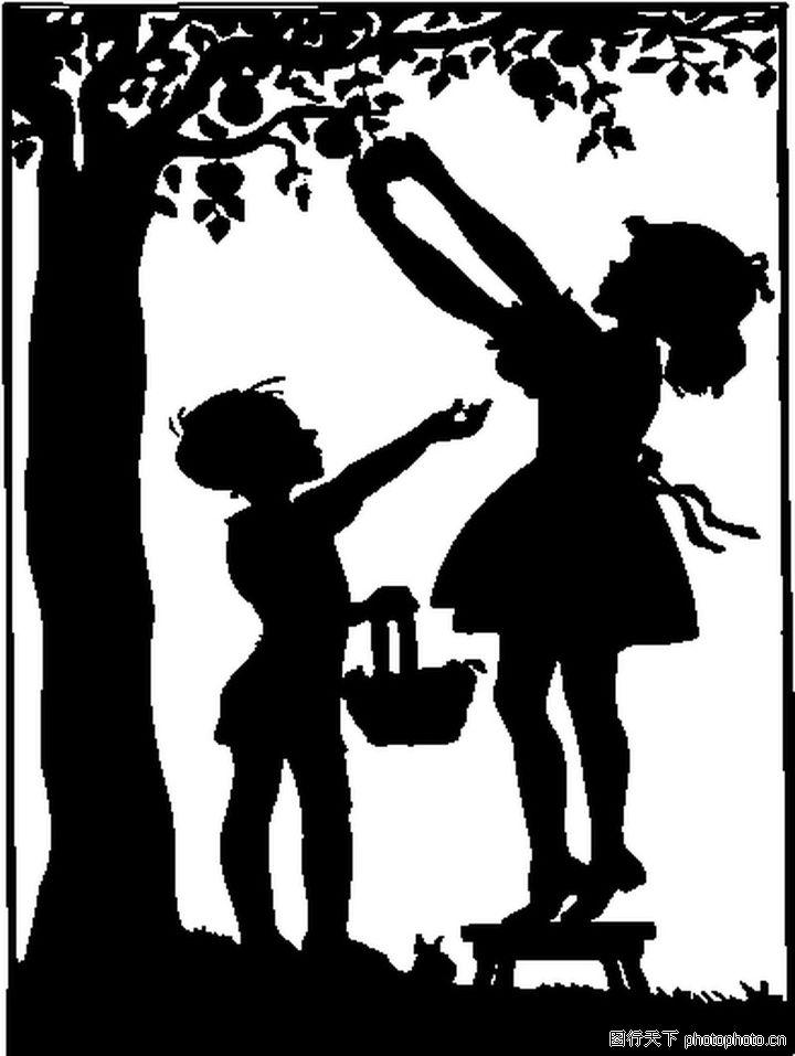 影子儿童画 风筝上的儿童画