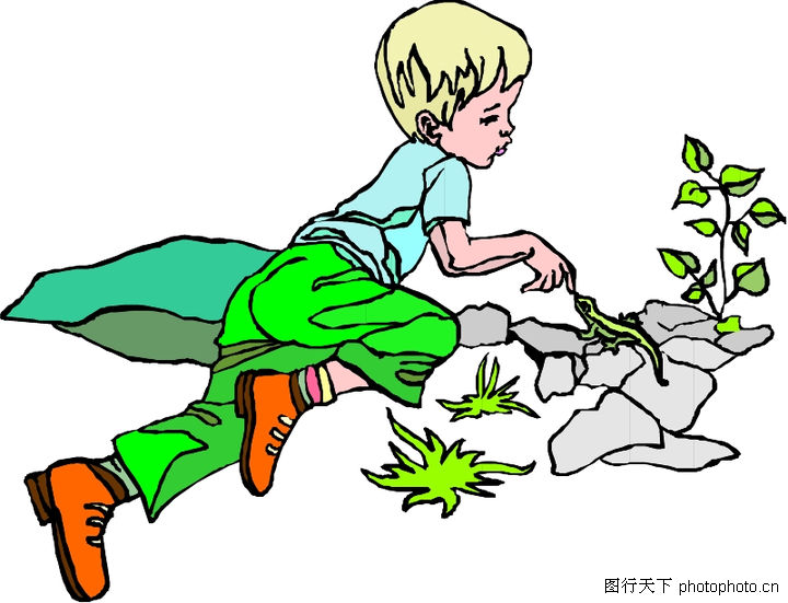 简笔画人物儿童; 儿童世界-小伙伴;