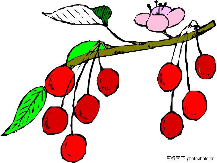 水彩樱桃卡通图片