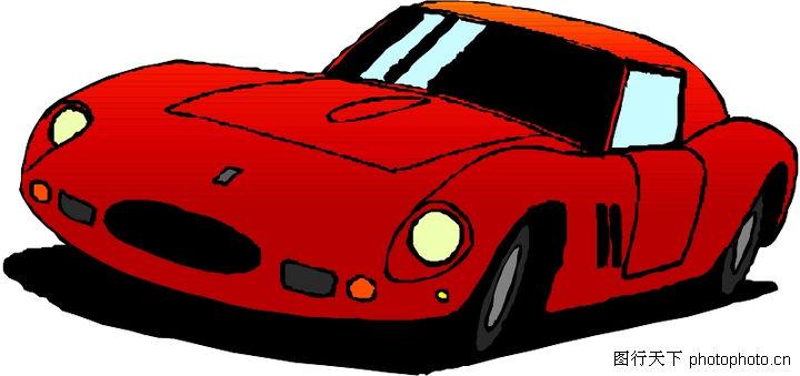 轿车,交通运输,红色汽车,轿车0057