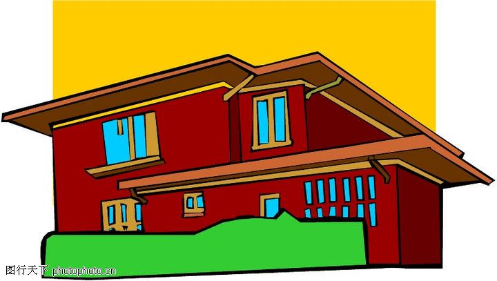 卡通建筑,名胜地理,卡通建筑0568